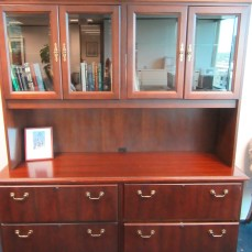 Kimball Double Lateral File Credenza with Hutch