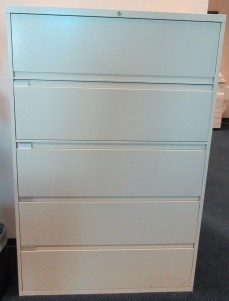 "Steelcase 5 Drawer Full Pull Lateral File 42"" [9 Available]"